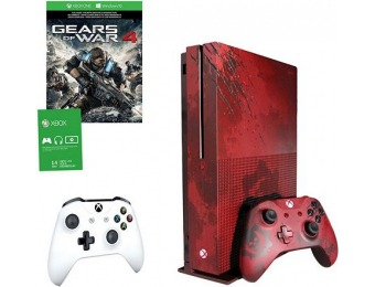 $160 off Xbox One S 2TB Gears of War 4 Red LE Console Bundle with Controller