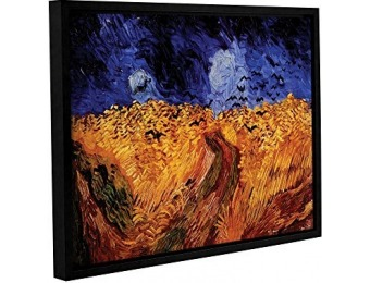 "82% off Vincent Vangogh Gallery Wrapped Framed Canvas, 36"" x 48"""