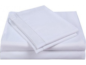 87% off Balichun Microfiber 4-Pc Bed Sheet Set, Queen