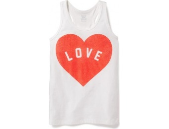 80% off Old Navy Fitted Racerback Tank For Girls