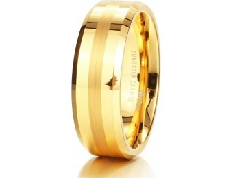 96% off King Will GLORY Tungsten Carbide 18K Gold Wedding Band