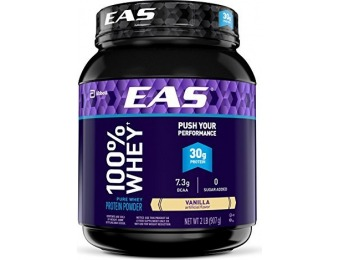 49% off EAS 100% Pure Whey Protein Powder, Vanilla, 2lb (Exclusively for Prime Members)