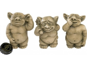 87% off Design Toscano Picc-A-Dilly Gargoyles Set of 3 15-in Goblin Garden Statues OS68565