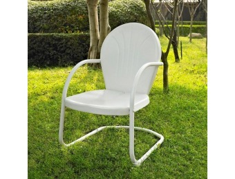 81% off Crosley Furniture Griffith White Steel Patio Conversation Chair
