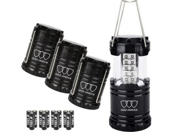 80% off Gold Armour LED Lantern 4-Pack