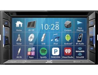 "$100 off JVC 6.2"" Bluetooth In-Dash CD/DVD/DM Receiver"