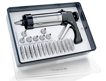 27% off Wolfgang Puck 22-piece Stainless Steel Cookie Press Set