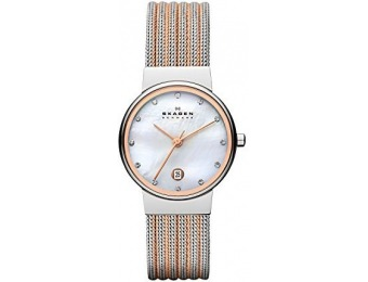 $72 off Skagen Women's 355SSRS Ancher Two Tone Mesh Watch