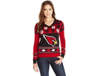 84% off NFL Women's V-Neck Sweater, Arizona Cardinals