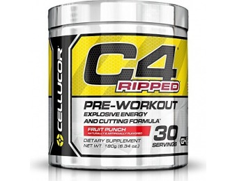 50% off Cellucor C4 Ripped Explosive Energy and Cutting Formula Pre-Workout