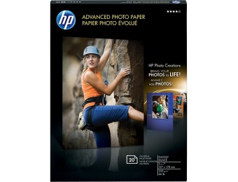 "60% off HP 5"" x 7"" Glossy Advanced Photo Paper 20-Count"