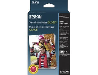 "60% off Epson Value Glossy Photo 4"" x 6"" 100-Count Paper"