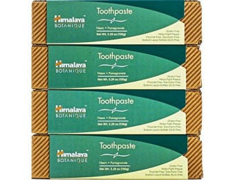 41% off Himalaya Flouride-free Toothpaste, 4 Pack