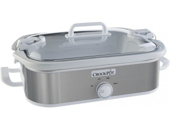 40% off Crock-Pot 3.5-Quart Slow Cooker - Stainless-Steel/White