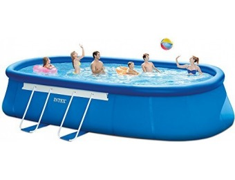 71% off Intex 20ft X 12ft X 48in Pool Set with Filter Pump, Ladder, Ground Cloth & Pool Cover