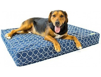 "26% off Orthopedic Dog Bed - 5"" Thick Supportive Gel Enhanced Memory Foam"