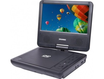 "50% off Sylvania 7"" Portable DVD Player with Swivel Screen"