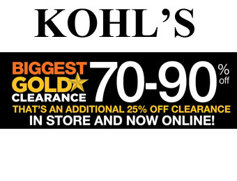 Kohl's Gold Clearance Sale - Up to 90% off