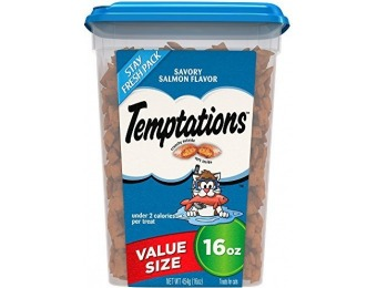 69% off TEMPTATIONS Classic Treats for Cats Savory Salmon Flavor 16 Ounces