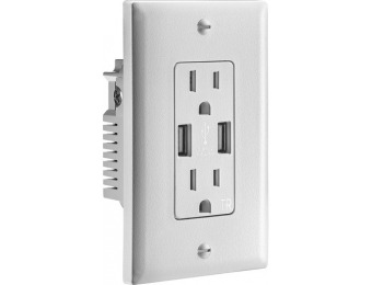 63% off Insignia 3.6A USB Charger Wall Outlet