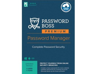 83% off Premium Password Manager (1-User) (1-Year Subscription)