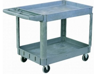 70% off Sandusky Lee PUC174033-2 Heavy-Duty Plastic Utility Cart
