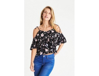 60% off AE Tie Sleeve Women's Top