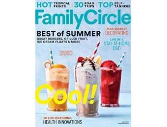 87% off Family Circle Magazine - 1 year auto-renewal
