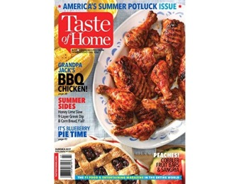 93% off Taste of Home Magazine - 6 month auto-renewal