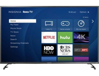 "$120 off Insignia 55"" LED 2160p Smart 4K Ultra HDTV Roku TV"