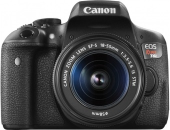 $301 off Canon EOS Rebel T6i DSLR Camera with EF-S 18-55mm IS STM Lens