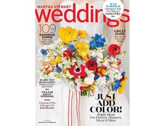 84% off Martha Stewart Weddings Magazine