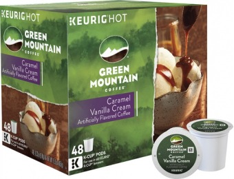 31% off Keurig Green Mountain Coffee Caramel Vanilla Cream K-Cup Pods (48-Pack)