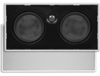 "61% off Aria In-Wall Dual 5.25"" 2-Way Center Channel Speaker"