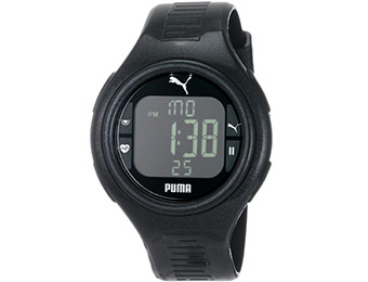 $50 off Puma Men's Pulse Metallic Black Heart Rate Monitor Watch