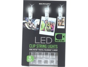 69% off Merkury Innovations 15' LED Clip String Lights