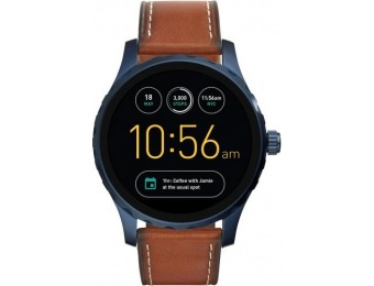 $142 off Fossil Q Marshal Gen 2 Smartwatch 45mm - Blue