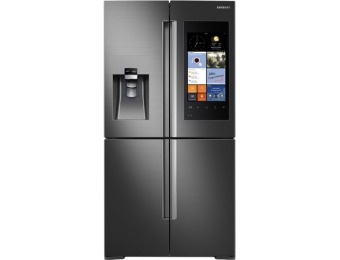 48% off Samsung Family Hub Counter-Depth 4-Door Flex Smart Refrigerator RF22K9581SG