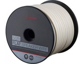 50% off Rocketfish 50' Spool 16-Gauge Flat Speaker Wire
