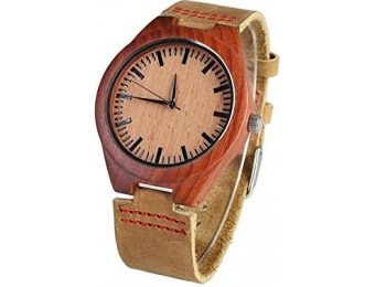 93% off YUSHOP Vintage Unisex Bamboo Wooden Quartz Watch