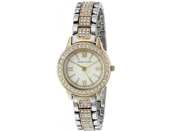 72% off Anne Klein Women's Swarovski Crystal Accented Watch