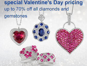 Valentine's Day Sale: Up to 70% off ALL diamonds and gemstones