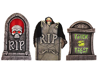 30% off Spooky Light Up Tombstones (3-Pack)