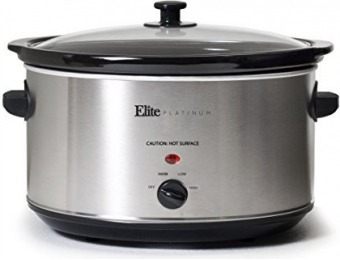 57% off Elite Platinum MST-900V Maxi-Matic 8.5 Qt Slow Cooker