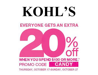 Save 20% off Orders off $100+ at Kohl's, or 15% Storewide