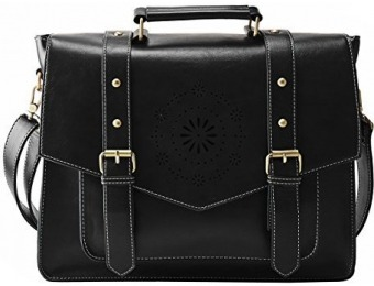 42% off ECOSUSI Women's PU Leather Laptop Bag Tote Messenger Bag