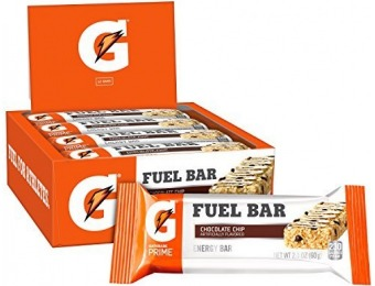 58% off Gatorade Prime Fuel Bars, Chocolate Chip (12 Count)