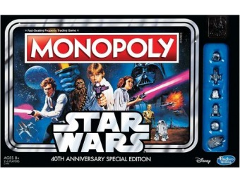 40% off Star Wars 40th Anniversary Special Edition Monopoly Game