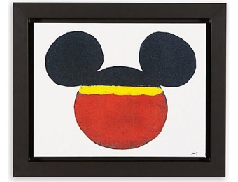75% off Mickey Mouse Color Block Mickey Framed Giclée on Canvas by Ethan Allen