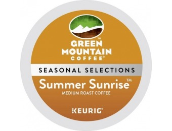 50% off Green Mountain Coffee Summer Sunrise K-Cups (18-Pack)